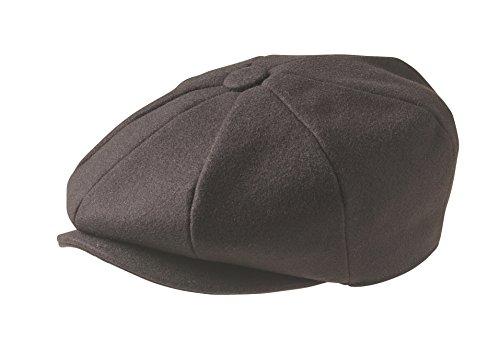 Peaky Blinders Men's 8 Piece 'Newsboy' Style Flat Cap Wool X-Large (61Cm) Brown