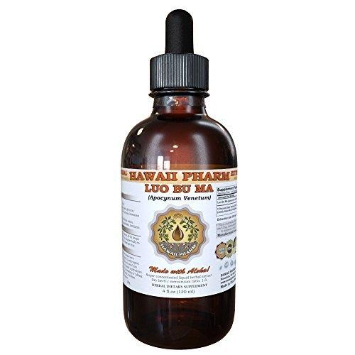 Luo Bu Ma Liquid Extract, Luo Bu Ma, Dogbane (Apocynum Venetum) Leaf Tincture Supplement 2 oz by HawaiiPharm (Leaf Dogbane)