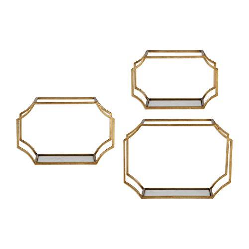 Uttermost 3-Pc Wall Shelf Set in Gold