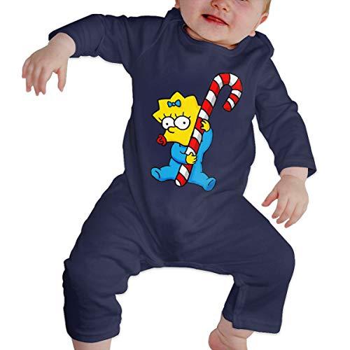B-Art Sim-p-Son On Skating Long Sleeve Baby Onesie Bodysuits (6M) -