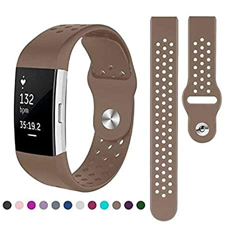Kutop Compatible Fitbit Charge 2 Band, Soft Silicone Adjustable Fashion Sport Replacement Strap for Fitbit Charge2 Fitness Wristband for Boy Girl Man Women