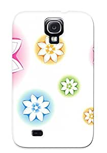EBXXMEm10090Ohfvr Tpu Phone Case With Fashionable Look For Galaxy S4 - Neon Flowers Case For Christmas Day's Gift