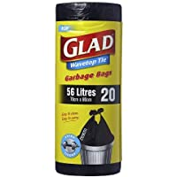 Glad Wavetop Tie Garbage Bags, 20 count