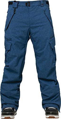 686 Authentic Smarty Cargo Snowboard Pants Indigo Texture Sz