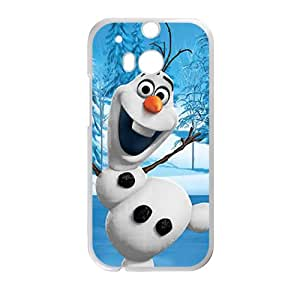 JIANADA Frozen happy snow doll Cell Phone Case for HTC One M8