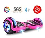 Dartjet 6.5' Smart Self-Balanced Hoverboard UL-2272 Certified, Build-in Bluetooth Speaker, Illuminated Colorful LED Wheels, LED Fender & Front Lights (Chrome Rose Gold)