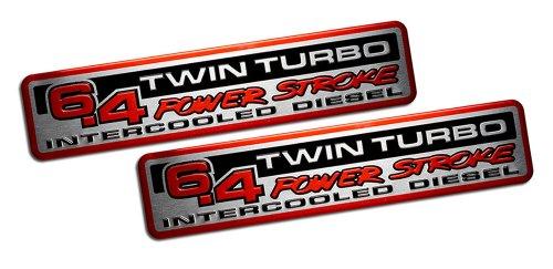 Ford SuperDuty 6.4 Liter PowerStroke Twin Turbo Intercooled Diesel Truck Emblems - (Turbo Diesel Van)