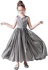 Little Girls Junior Bridesmaid Dresses Special Occasion Formal Flower Girl Dress Wedding Party Princess