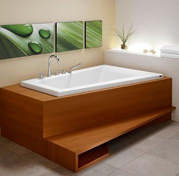 Neptune Bora 60 Soaker Bath Tub 60 x 42 x 22 BO60S White - Soaking ...
