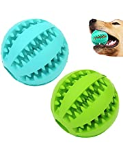 Sunglow Dog Toy Ball, Nontoxic Bite Resistant Toy Ball for Pet Dogs Puppy Cat, Dog Pet Food Treat Feeder Chew Tooth Cleaning Ball Exercise Game IQ Training toy Ball, medium/small dogs toy.