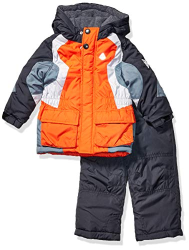 London Fog Boys' Little 2-Piece Snow Pant & Jacket Snowsuit, Orange and Pants, 5/6