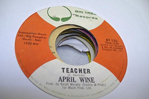 APRIL WINE 45 RPM Teacher / You Could Have Been A Lady (April Wine Could Have Been A Lady)
