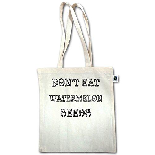 Schwangerschaft - Dont eat watermelon seeds - Unisize - Natural - XT600 - Jutebeutel lange Henkel