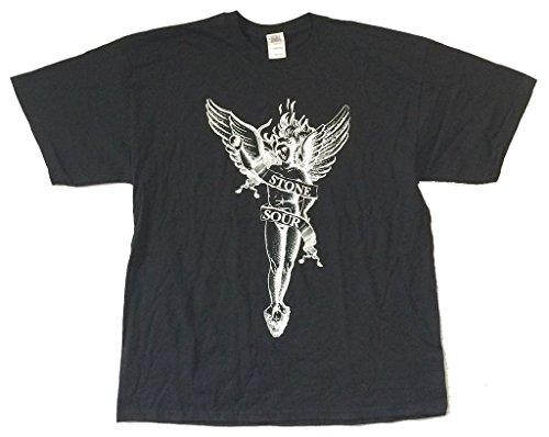 Stone Sour Angel 2010 Tour Black T Shirt (Stone Sour T-shirts)