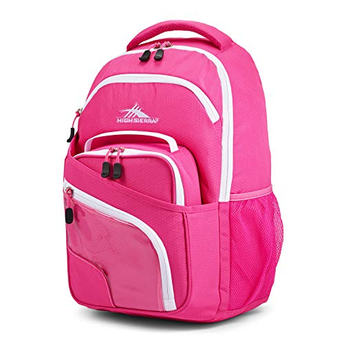 (High Sierra Wiggie Lunch Kit Backpack, Candy Pink/White - Backpack+Lunch Kit)
