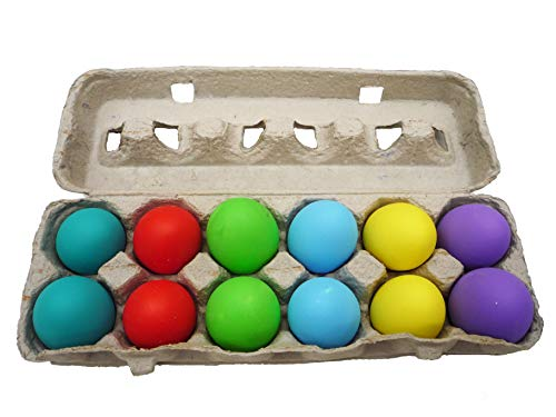 Confetti Eggs, 24 Total, Multicolored, Humpty Dumpty Cascarones, 2 Cartons for Easter, Cinco de Mayo, Birthdays and Fiestas