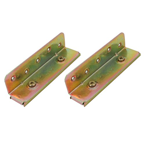 Bronze Fixed Rail - uxcell 6-inch Screw Fixed Bed Hinge Rail Brackets Connecting Fittings 2 Sets