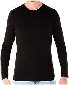 MERIWOOL Mens Base Layer – 100% Merino Wool Midweight Long Sleeve Thermal Shirt