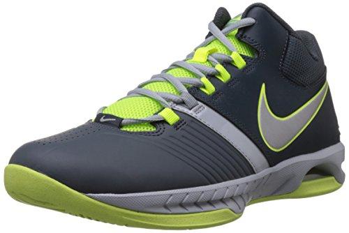 Nike Men's Air Visi Pro V Dk Mgnt/Gry/Mtllc Slvr/Vlt/Lt Basketball Shoe 9 Men US