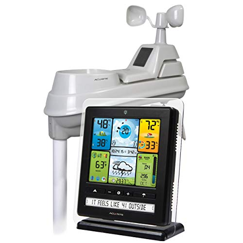 AcuRite 02064 5-in-1 Color Station with Weather Ticker and Future Forecast, White, ()