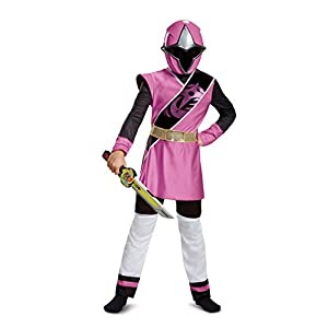 Power Rangers Ninja Steel Deluxe Costume Pink Large 10 12