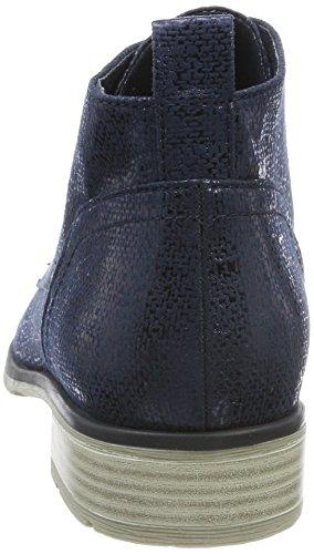 Azul Para Chukka navy Botas Marco Metallic 25128 Mujer Tozzi W1qnBWw6Pg
