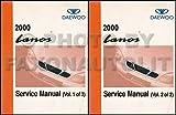 2000 Daewoo Lanos Repair Shop Manual Original 2 Volume Set