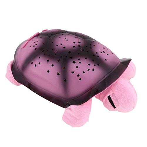 Musical Turtle Led Night Light Sky Star Novelty Lamp Children Toy Song Music Lighting Baby Sleep Light In Pink Yellow Green Blue (pink) by Fly Array