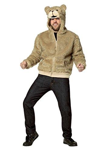 Ted Adult Hoodie (Rasta Imposta Men's Hoodie Ted 2, Brown, Large)