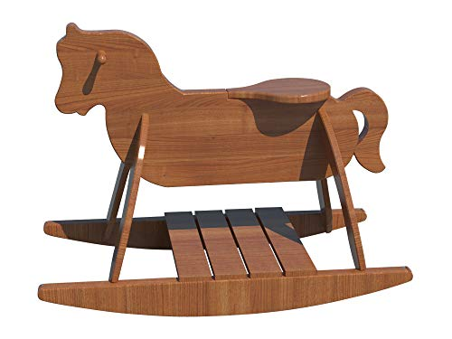 Wooden Rocking Horse Plans DIY Playroom Baby Rocker Toddler Kids Riding Toy