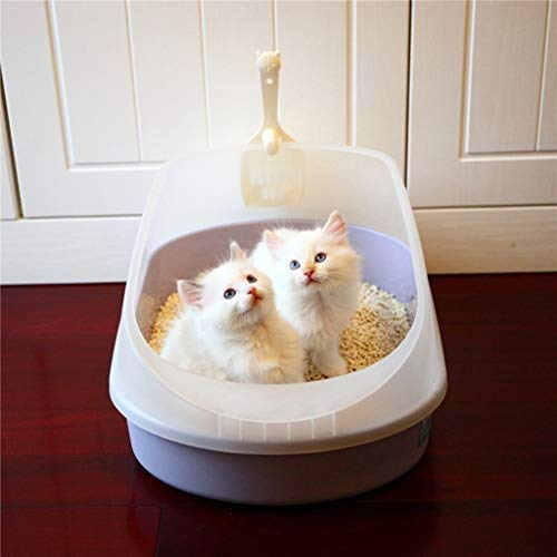 Pet Supplies Cat Toilet Large Size Charcoal Filter Deep, Toilet Filter Non Stick and Never Bend, Dog Litter Boxes Spacious Interior, Cat Litter Boxes Easy to Clean Toilet for Your Cat
