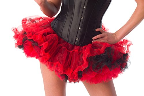 Sexy Tutus (Velvet Kitten Sexy Layered Tulle Tutu in Red / Black - One Size)