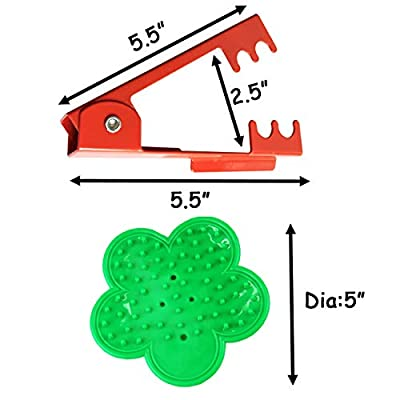 TIHOOD 3PCS Professional Rose Leaf Thorn Stripper Kit Stripping Tool Thorn Remover for Roses & Garden Glove (2 Kinds of Rose Leaf Thorn Strippers+1 Pair Glove) : Garden & Outdoor