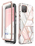 i-Blason Cosmo Case for Google Pixel 4 5.7 inch (2019 Release), Slim Full-Body Stylish Protective Case with Built-in Screen Protector (Marble)