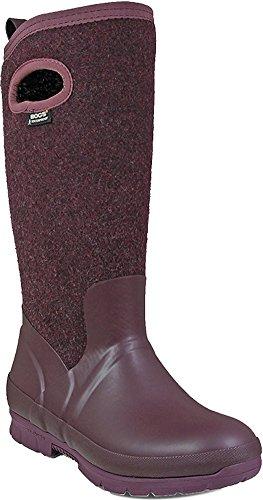 Bogs Womens Crandall Wool Rain Boot Plum Size 7