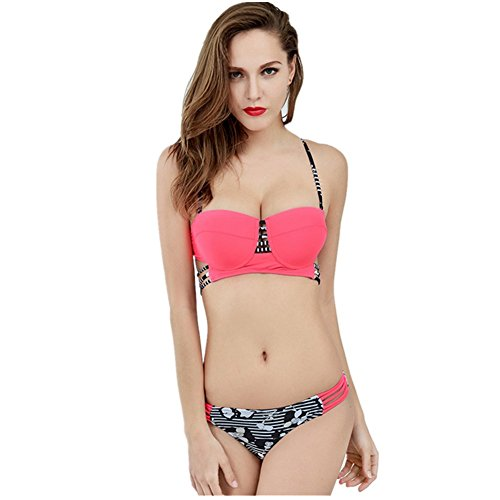 ZhouTai Sexy Hollow Steel Prop Bikini Swimwear