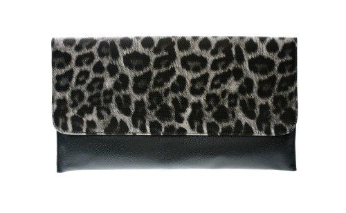Animal Print Faux Leather Leopard Clutch Handbag Classy Fashion Purse (Leopard Clutches)