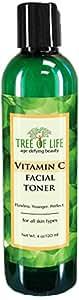 ToLB Vitamin C Facial Toner - 93% ORGANIC - Pore Minimizing Anti Aging Facial Toner and Rejuvenator - 4 Ounce