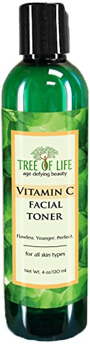 ToLB Vitamin C Facial Toner - 93% ORGANIC - Pore Minimizing Anti Aging Facial Toner and Rejuvenator - 4 Ounce