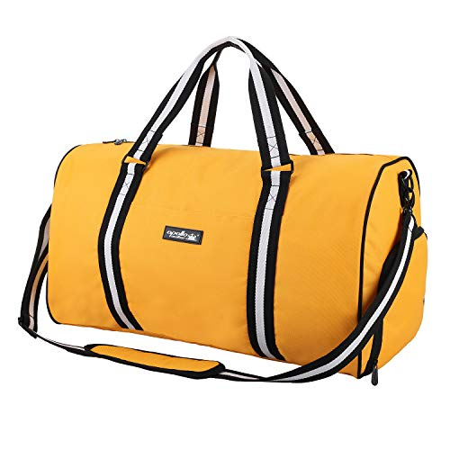 apollo walker Water Resistant Sports Gym Duffel Bag with Shoes Compartment Travel Weekender Bag 45L for Men Women, ()