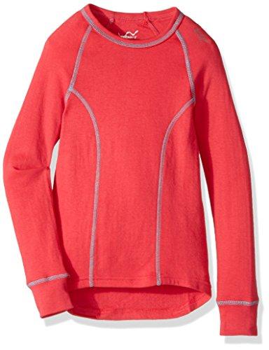 Watson's Girl's Double Layer Long Sleeve Top, Coral, Medium