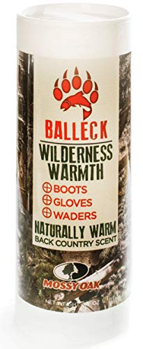 Balleck Wilderness Warmth: No Cold Feet Warming Powder Heating Cold Hands and Feet with Back-Country Scent to Keep Your Scent Covered - Mossy Oak Wilderness Warmth 4.5 oz