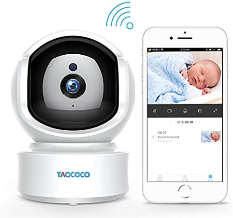 Baby Monitor Camera, Taococo IP Camera Wireless 1080P HD Home Security Camera for Baby Elder Pet Dog Monitor with Pan Tilt Two-Way Audio,Night Vision,Motion Detection and Phone App Remote Control