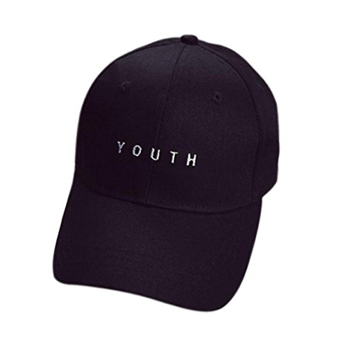 Litetao Men Women Caps, Baseball Caps, Embroidered Summer Lightweight Sun Protection Boys Girls Snapback Hip Hop Flat Hats For Running, Workouts and Outdoor Activities (Free Size, Black)
