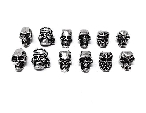 Honbay 12pcs Mini Skull Spacer Beads for DIY Jewelry Making Necklace Bracelets Earring Lanyards Accessories