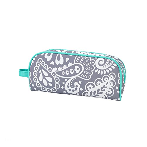 Lined Polyester Zippered Pencil Case with Carry Strap (Parker Paisley)