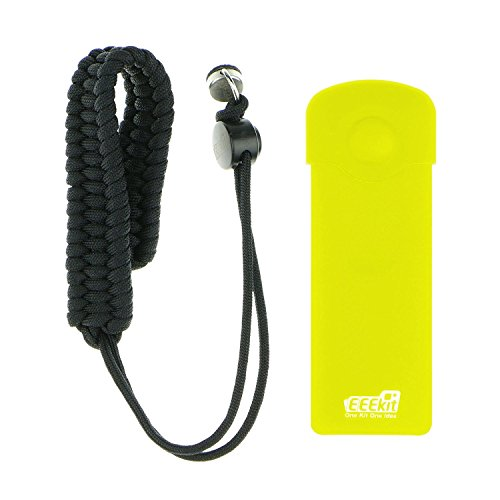 EEEKit 2in1 Security Protector Kit for Ricoh Theta S 360 Camera Paracord Wrist Strap Silicone Cover w/ Lens Cap (Yellow)