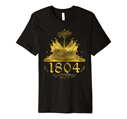 Mens Haiti Independence gold flag day 1804 t-shirt tee clothes Large Black