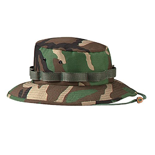 (Woodland Camouflage Military Jungle Hat (Polyester/Cotton) 5547 Size 2XL Regular)
