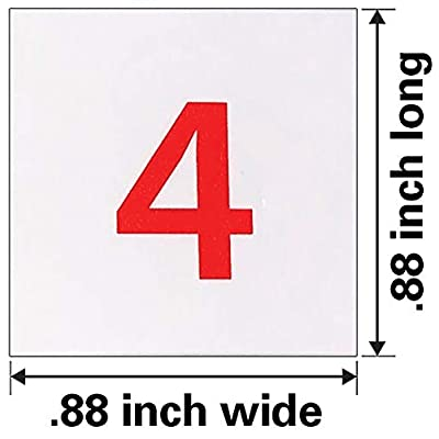 Dowling Magnets Magnetic Numerals (.88 inch in diameter), Set of 100: Industrial & Scientific